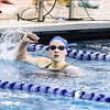 2015 Washington Metropolitan Interscholastic Swimming and Diving Championships - 500 Free and 400 Free Relay Trials . Featuring the New American Women's record holder Katie Ledecky who set a new record time of 4:26:58 in the 500 YD Free.
