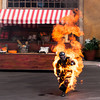 Man on fire at Disney Hollywood Studio's Stunt Show