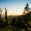 Sunset in Smokey Mountains at Clingman's Dome