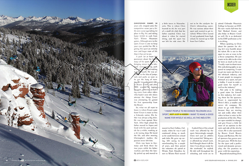 Epic Colorado Magazine Vol. 1 Issue 2  rider: Chris Ewart