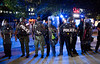 Riots have broken out in Atlanta around the CNN Center and on Friday, May 29, 2020.  Protesters and police clash at the corner of Marietta Street and Centennial Olympic Park in front of the CNN Center.  (Jenni Girtman for The Atlanta Journal-Constitution)