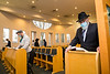 live worship at Jewish temple with restrictions