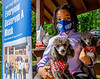 young philanthropist gives away masks