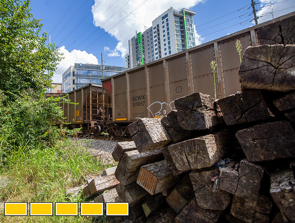 northern part of the beltline is complicated by active rail lines
