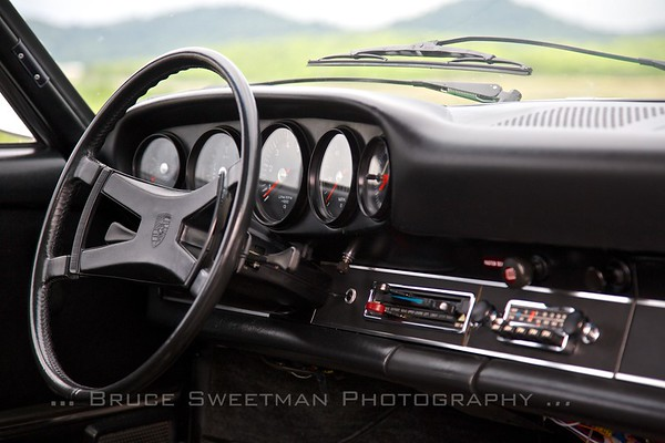 The dashboard is all business. The best view is out the large windshield.