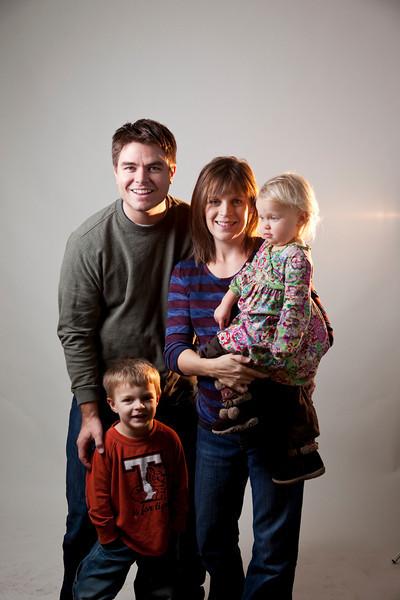 Family photos of the Andrew Roise family taken December 09
