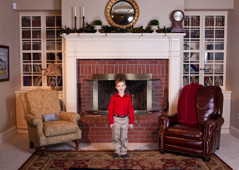 Proofs of Christmas family photos for Andrew and Elise.