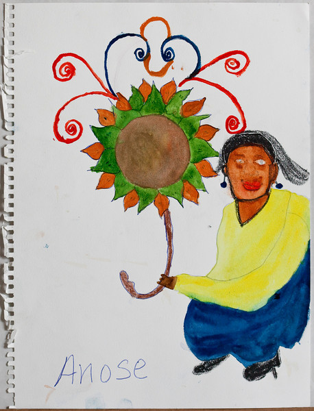 These are drawings by natives of the Island of Lagonave of the coast of Haiti.  The originals will be sold at the Prichard Art Gallery in Moscow, Idaho to raise money for an art center in Lagonave.