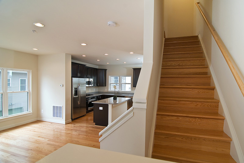 Stairs and Kitchen