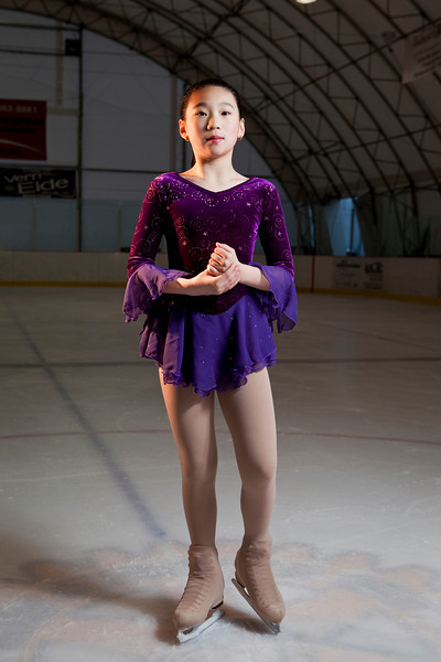 Some photos of May Qaing a talented and precocious figure skater who lives in Moscow, Idaho.