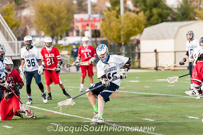 In the 4/8/2016 Magruder v Blair JV Lacrosse game