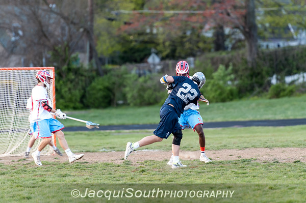 April 11, 2016 varsity lacrosse between Einstein and Kennedy High Schools