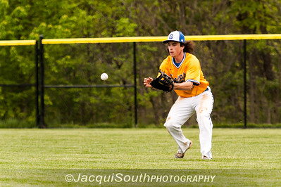 In the 5/9/2016 Damascus v Gaithersburg Baseball game Gaithersburg right fielder Colin Arnold fields a single by Damascus Mitchell Kline.