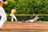 In the 5/9/2016 Damascus v Gaithersburg Baseball game as Damascus baserunner Grant Buttrey slides, Gaithersburg shortstop Andy Kwiatkowski out-touches 2nd base to make the final out of the game.