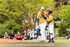 In the 5/9/2016 Damascus v Gaithersburg Baseball game secrets between Gaithersburg pitcher Nick Pantos and catcher Dillon Scholl.