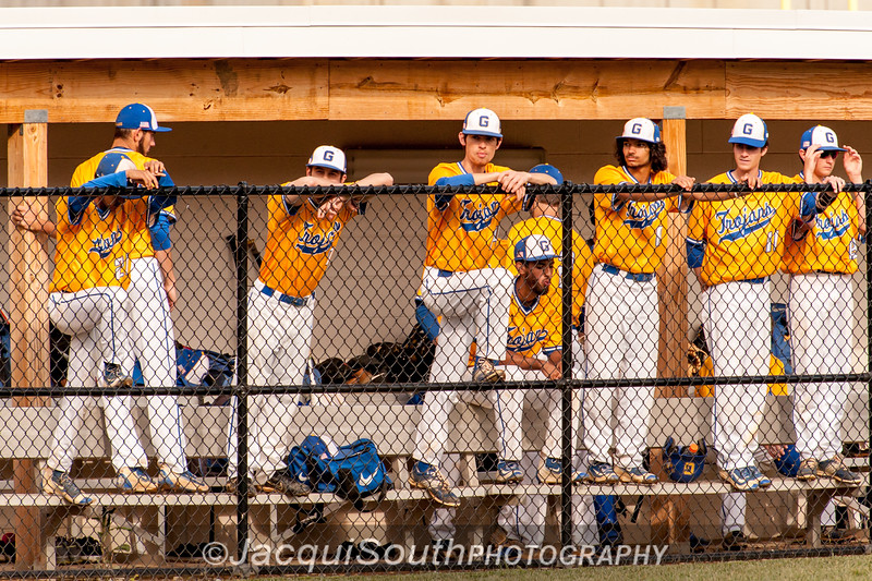 In the 5/9/2016 Damascus v Gaithersburg Baseball game the Gaithersburg dugout.