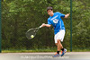5/27/2016 - Austin Yang (Churchill HS), boys doubles with Benentt Yang in the Maryland High School Tennis Playoffs at Olney Manor Recreational Park