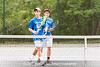 5/27/2016 - Boys doubles team Bennett and Austin Yang (Churchill HS) in the Maryland High School Tennis Playoffs at Olney Manor Recreational Park