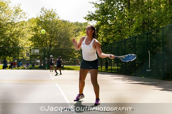 5/27/2016 - Girls singles champion Miranda Deng (Wootton HS) in the Maryland High School Tennis Playoffs at Olney Manor Recreational Park.