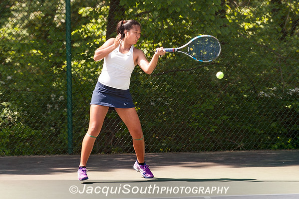 5/27/2016 - Girls singles champion Miranda Deng (Wootton HS) in the Maryland High School Tennis Playoffs at Olney Manor Recreational Park.