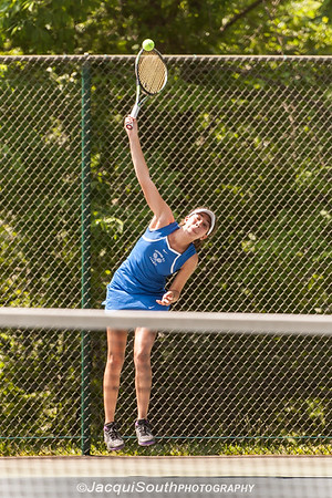 5/27/2016 - Girls singles runner-up Lea Owens (Sherwood HS) in the Maryland High School Tennis Playoffs at Olney Manor Recreational Park.