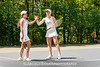 5/27/2016 - Girls doubles champions Carina Greenberg & Sarinah Wahl (Whitman HS) in the Maryland High School Tennis Playoffs at Olney Manor Recreational Park.