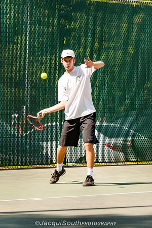 5/27/2016 - Mixed doubles champion Ethan Kowalski, with Jessica Fatem (Walter Johnson HS) i in the Maryland High School Tennis Playoffs at Olney Manor Recreational Park.