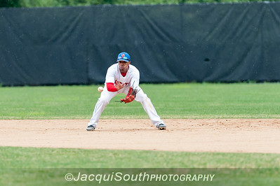 6/27/2016 - 2nd baseman Grayland Fowler, Rockville Express v Silver Spring/Takoma Park Thunderbolts, ©2016 Jacqui South Photography