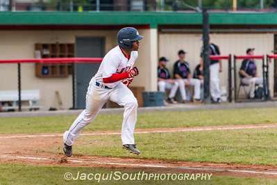 6/27/2016 - Grayland Fowler running to 1st base, Rockville Express v Silver Spring/Takoma Park Thunderbolts, ©2016 Jacqui South Photography