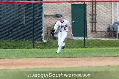 6/27/2016 - Left fielder Tom Ruddy, Rockville Express v Silver Spring/Takoma Park Thunderbolts, ©2016 Jacqui South Photography