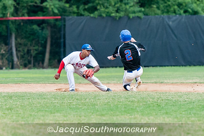 6/27/2016 - 2nd baseman Nick Vogelmeier, Rockville Express v Silver Spring/Takoma Park Thunderbolts, ©2016 Jacqui South Photography