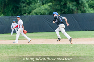 6/27/2016 - Billy Lennox running to 2nd base, Rockville Express v Silver Spring/Takoma Park Thunderbolts, ©2016 Jacqui South Photography