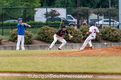 6/27/2016 - Grayland Fowler gets safely to 3rd base in the 1st inning, Rockville Express v Silver Spring/Takoma Park Thunderbolts, ©2016 Jacqui South Photography