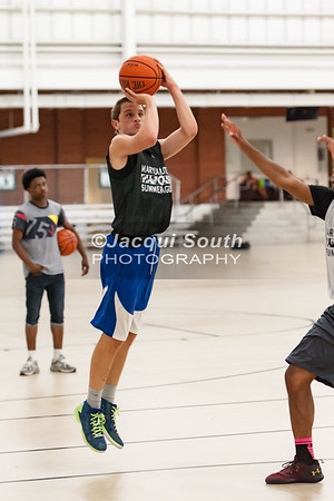 7/12/2016 - Jake Drissel shoots a 3-pointer, Poolesville v Seneca Valley, ©Jacqui South Photography