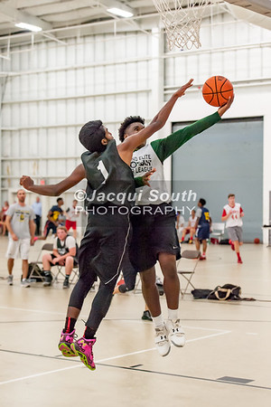 7/12/2016 - Praneeth Thota guards Harold Dotson on a layup, Poolesville v Seneca Valley, ©Jacqui South Photography