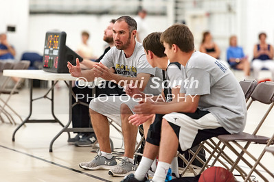 7/12/2016 - Poolesville coach Kenney Kramek on the bench, Poolesville v Seneca Valley, ©Jacqui South Photography