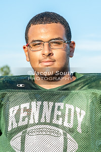 August 17, 2016 - Aneudy Sanchez, (left tackle), Kennedy Football