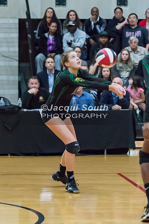 11/20/2016 - Kaylen Bernota (5) during the 3A Championship Volleyball game between Atholton and Damascus, ©2016 Jacqui South Photography