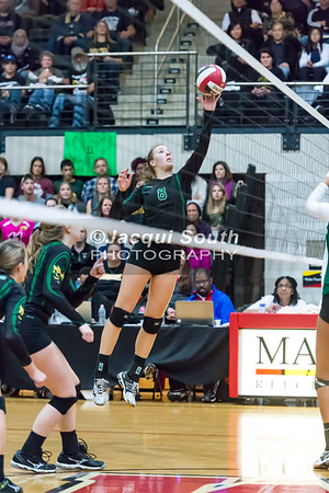11/20/2016 - Damascas outside hitter Olivia Fagan (8) duirng the 3A Championship Volleyball game, ©2016 Jacqui South Photography