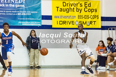 1/17/2017 - Sherwood v Magruder Boys Basketball, ©2017 Jacqui South Photography