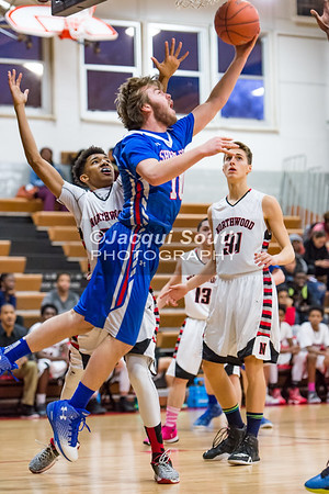 2/3/2017 - Sherwood forward Brendan Collins (1) with a reverse layup, ©2017 Jacqui South Photography