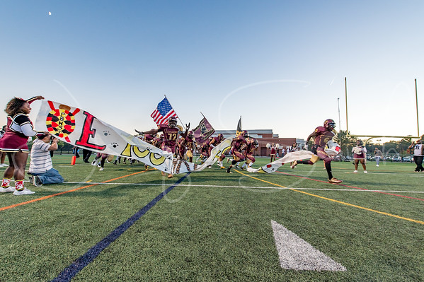 9/28/2017 - Paint Branch Panthers take the field, Springbrook v Paint Branch Football, Photo Credit: Jacqui South