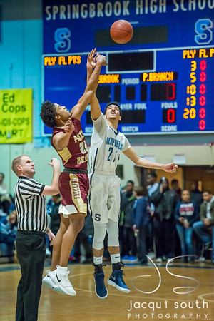 1/5/2018 - Paint Branch v Springbrook Boys Basketball, ©2018 Jacqui South Photography
