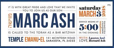 Marc Ash Bar Mitzvah
