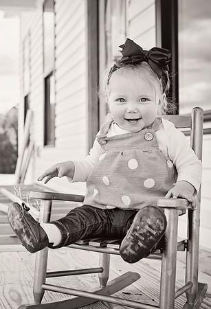 2018 March Etta Rose Ellis 10 months old-79 crop 2 BW