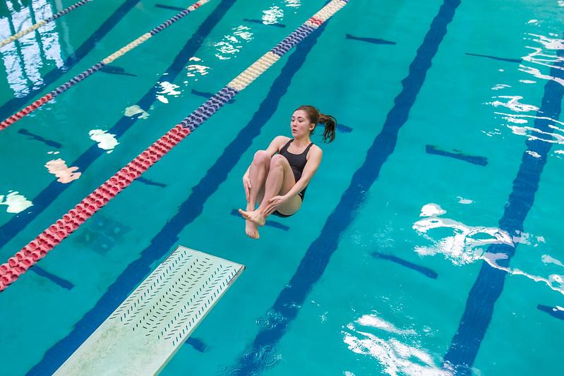 1/20/2018 - Ella Jacobs (Blake) dives a back somersault, Blake v Magruder Swim & Dive, ©2018 Jacqui South Photography