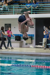 1/20/2018 - Carson Powell (Magruder) dives a 1-1/2 somersault, Blake v Magruder Swim & Dive, ©2018 Jacqui South Photography