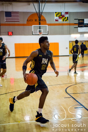 1/26/2018 - senior forward Xavier Harris (12), Richard Montgomery v Rockville Boys Basketball, ©2018 Jacqui South Photography