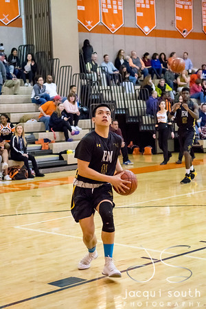 1/26/2018 - senior guard CJ Cruz (11), Richard Montgomery v Rockville Boys Basketball, ©2018 Jacqui South Photography