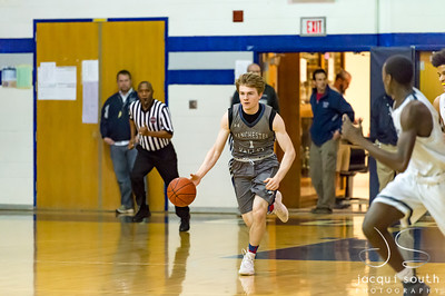 2/23/2018 - Manchester Valley v Magruder Boys Basketball, ©2018 Jacqui South Photography